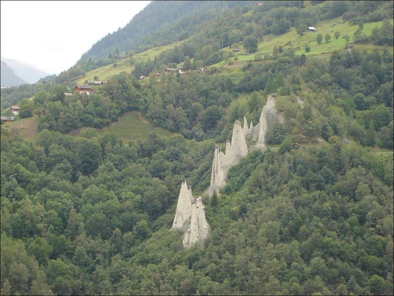 Piramides near Euseigne (Wallis 2005  Val d' Herens)