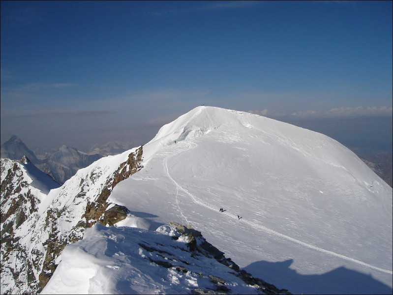 the summit of the Bishorn 4153m. a view from the Pointe Burnaby 4135m. (Wallis 2005  Zinal)