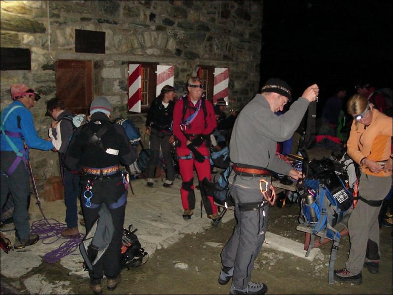 Cabane de Tracuit SAC 3256m.18Aug. 5.30h. Ascent Bishorn 4153m. (Wallis 2005  Zinal)