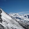 Tete de Milon 3693m.Zinalrothorn 4221m. and Ober Gabelhorn 4063m.Besso. (Wallis 2005  Zinal)