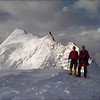 Summit Bishorn 4135m. with the Weisshorn in the South (Wallis 2005  Zinal)
