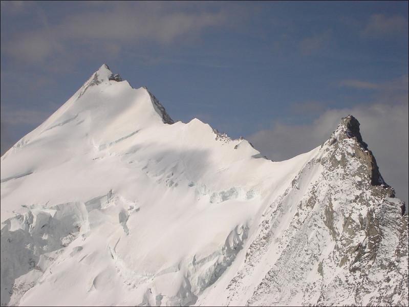 Weisshorn 4505m. and Grosse Gendarme 4331m. (Wallis 2005  Zinal)
