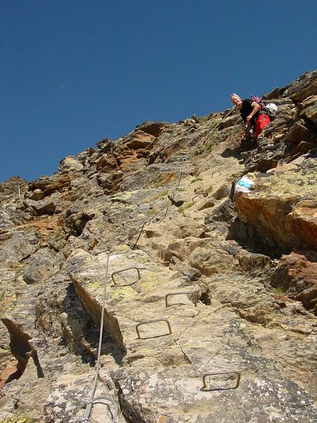 descent Mischabelhutte (via ferrata)