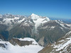 Weisshorn 4506m and Bishorn 4153m (view from Nadelhorn to the West)