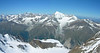 Panoramaview with Weisshorn 4506m and Bishorn 4153m