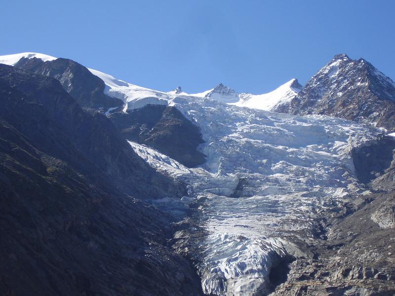 Riedglacier and Nadelgrat (Dirruhorn 4035m. Hobarghorn 4219m. Stecknadelhorn 4241m. Nadelhorn 4327m.)