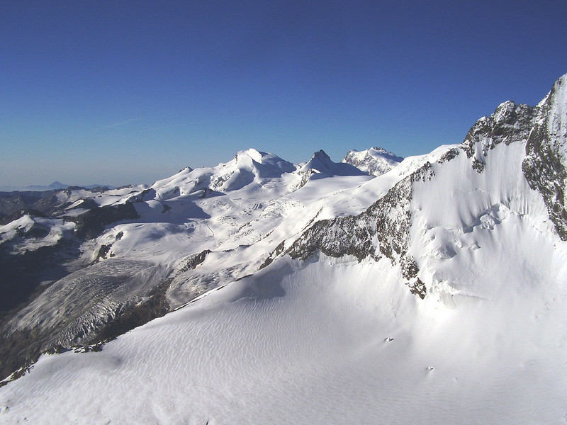 Mischabel (route  Mischabel hutte 2886m. - Lenzspitze 4294m.)