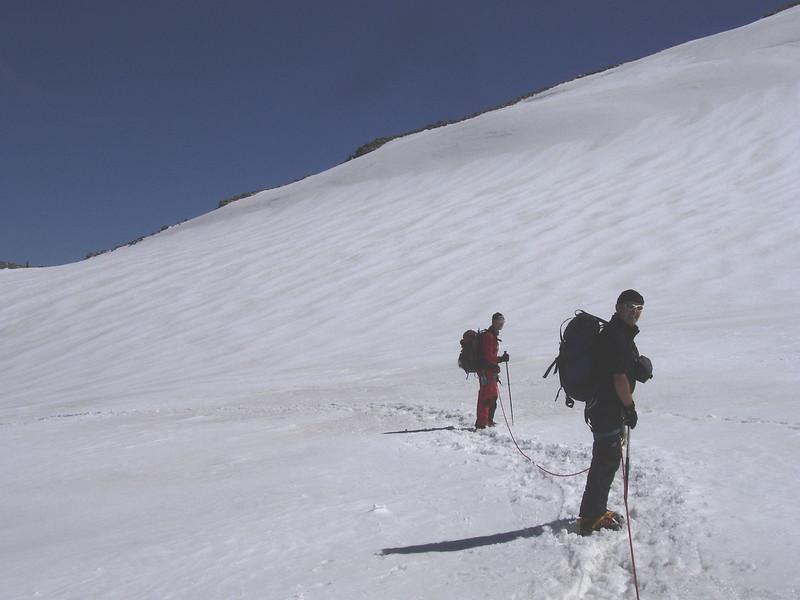 Hohbalmglacier 3600m. (return route)