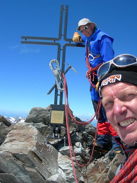 third summit, the Stecknadelhorn 4241m. (1.15 h. PM)