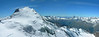 panorama from the Nadelhorn (South direction) (Dom-MonteRosa-Breithorn-Matterhorn-DentBlanche-Weisshorn)