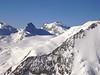 Alphubel 4206m. Taschhorn 4491m. Dom 4545m. Lenzspitze 4294m. (Mischabel)