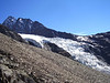 """Riedglacier with the Dirruhorn 4035m (first summit of the """"Nadelgrat"""")"""