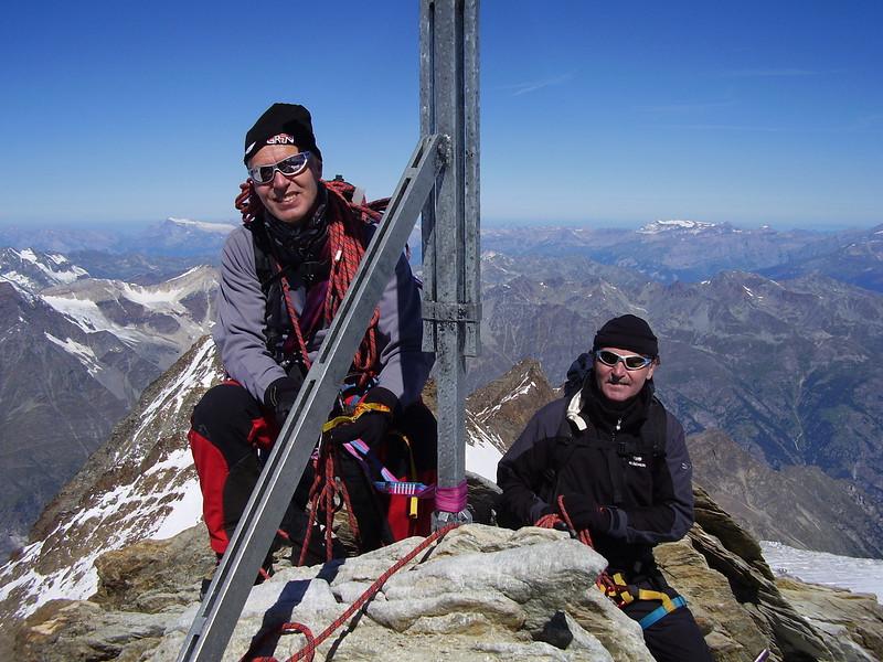 second summit, the Nadelhorn 4327m. (11.00 h AM)