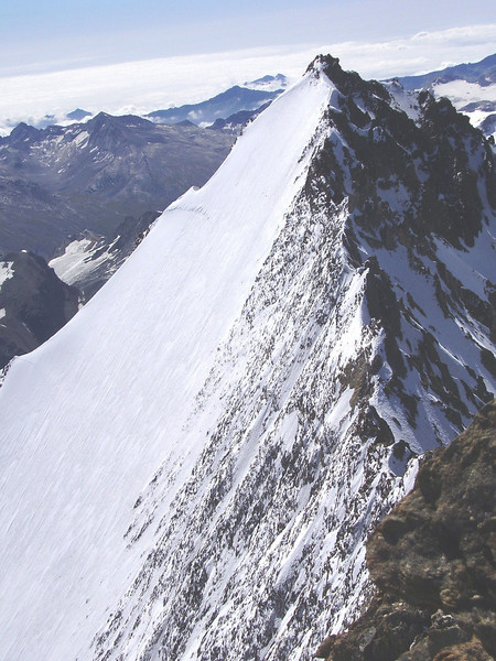 view,South East, the Lenzspitze 4294m. (NE face)