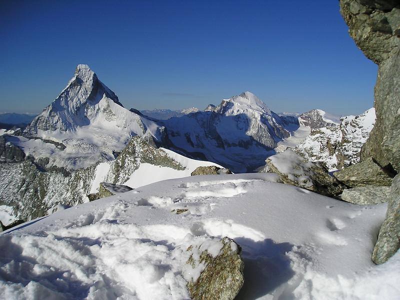 Matterhorn 4478m.and Dent d'Herens 4171m. (view)