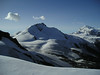 Rimpfischhorn4199m.and Monta Rosa group with Nordend and Dufourspitze (view)