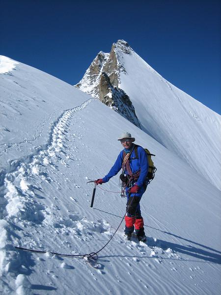 Wellenkuppe and Obergabelhorn 4063m. (descent)
