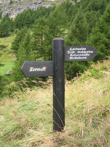 sign Rothornhutte (Zermatt)