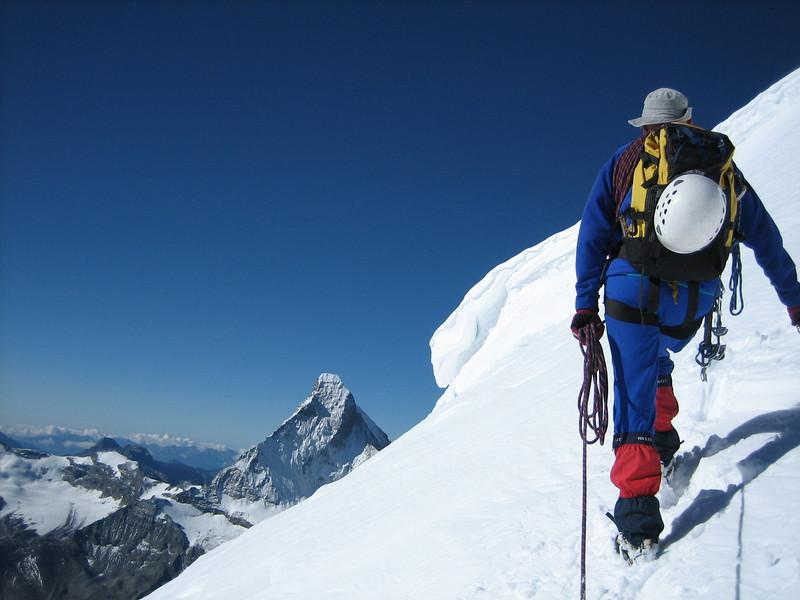 ascent the Wellenkuppe 3903m. (Matterhorn 4478m.)