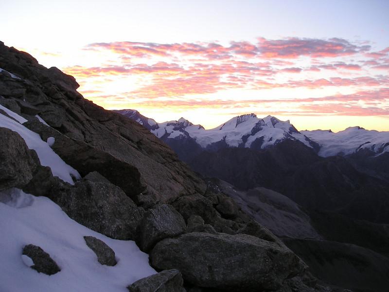 Rimpfischhorn 4199m. (the view )