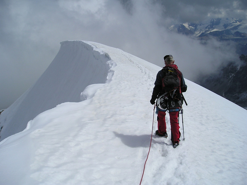 summit Wellenkuppe 3903m.