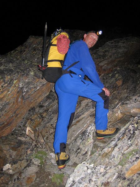 Rotgrat of the Alphubel 22-08-2008 4.00h AM (Rotgrat WSW-grat ZS  III  Alphubel 4206m.)