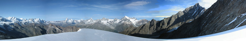 panoramaview of the Alps of Wallis  (view)