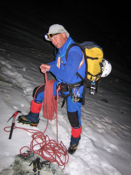 4.30h AM Rogier start ascent Zinalrothorn 4221m.