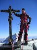 Summit of the Zinalrothorn 4221m. (in background,Weisshorn)