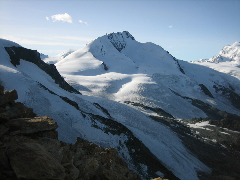 Rimpfischhorn 4198m.  (view from the Rotgrad)