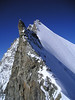 (ascent the Gendarme 3870m of the Obergabelhorn 4063m.)