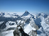 Matterhorn 4478m.and Turm ( Kanzel) of the Zinalrothorn 4221m. (ascent Zinalrothorn )