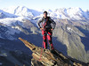 view: Monte Rosa group - Breithorn (West- or Rotgrat of the Alphubel)