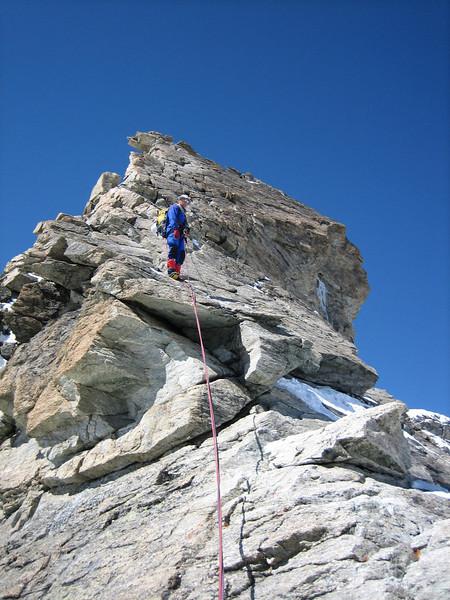 Rappel (descent Wellenkuppe 3903m)