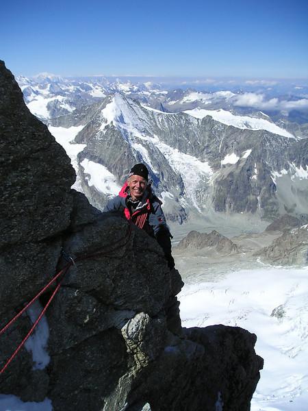 descent Zinalrothorn 4221m.