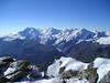 Monte Rosa, Lisskamm, Castor, Pollux, Breithorn and Klein Matterhorn (view)