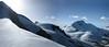 Alphubel, Allalinhorn 4027m, Rimpfischhorn 4198m.                                                                               (view:Wallis 2008)