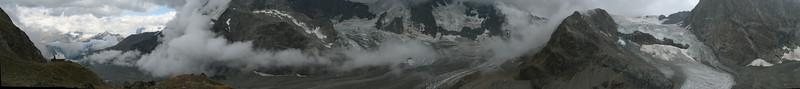panorama of the Schönbielhütte SAC 2684m. (Schönbielhorn 3472m. Wallis 2009 Switzerland )