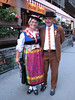 Walliser traditional dress (Zermatt 1672m. Wallis 2009, Switzerland)