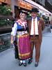 Walliser traditional dress (Zermatt 1672m. Wallis 2009, Switzerland)