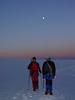 the Breithornplateau in moonlight (Pollux 4092m. Wallis 2009, Switzerland)