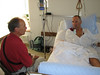 Rogier visit Paul in the Hospital of Visp (Hospital Visp, Wallis 2009, Switzerland)