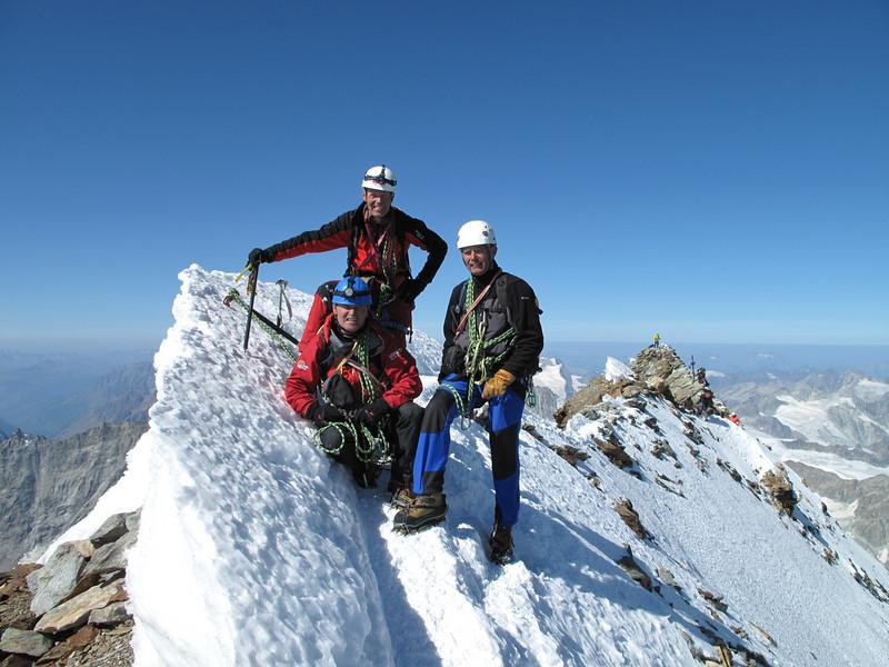 Summit of the Matterhorn 4478 m. (Matterhorn 4478m. Wallis 2009, Switzerland)