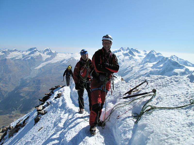 Marijn, Summit Matterhorn 4478m. (Matterhorn 4478m. Wallis 2009, Switzerland)