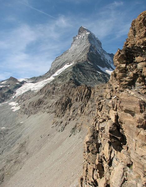 view on the Matterhorn 4478m. ( Matterhorn 4478m. Wallis 2009, Switzerland )