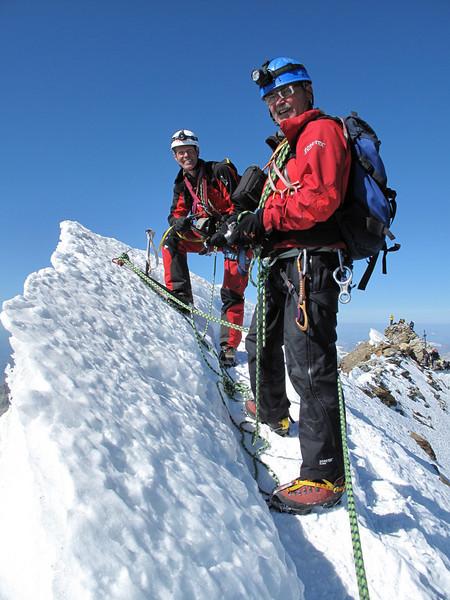 summit of the Matterhorn 4478 m. ( Matterhorn 4478m. Wallis 2009, Switzerland                                )