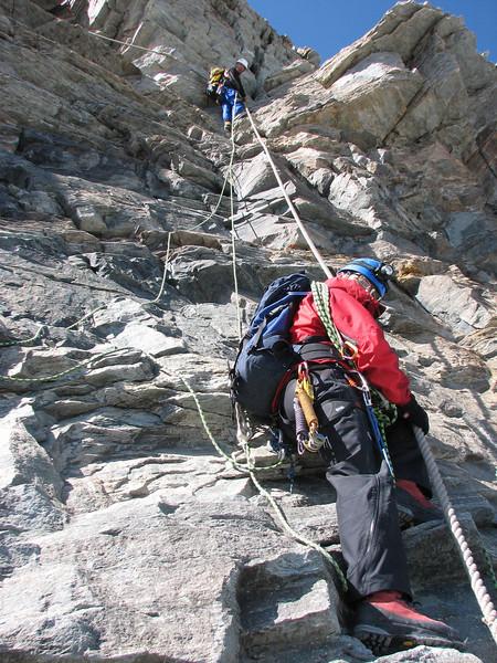 descent of the Matterhorn 4478m. ( Matterhorn 4478m. Wallis 2009, Switzerland)