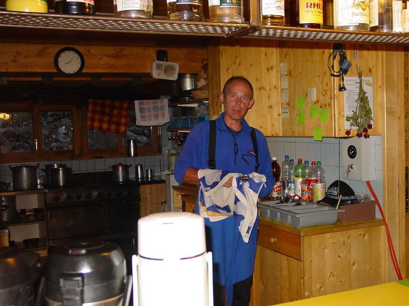 Rogier, the voluntary worker (Schönbielhorn 3472m. Wallis 2009 Switzerland                                )