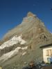 back to the Hörnli hut 3260m. (  Matterhorn 4478m. Wallis 2009, Switzerland                               )