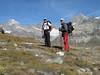 route Schwarzsee 2583 - Hörnli hütte 3260m. ( Matterhorn 4478m. Wallis 2009, Switzerland                                )